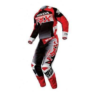Set Jersey (M) + Trousers (30) Fox 180 Honda Black Mx Gear Cross Enduro