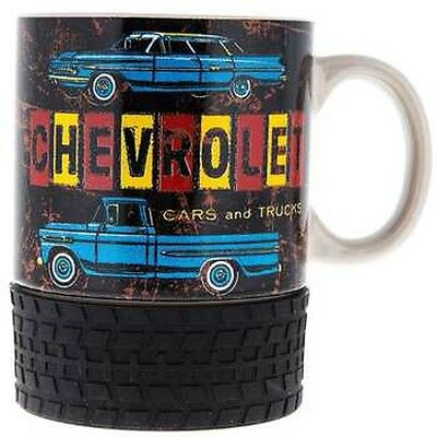 Ofc Gm License Vintage Style Chevrolet Mug Cup Cars Trucks W Rubber Tire Coaster
