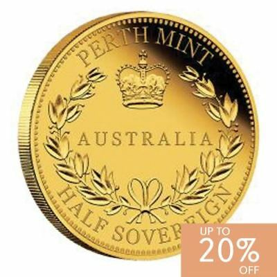 NEW Perth Mint Australia Half Sovereign 2016 Gold Proof Coin