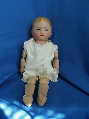 "MARTHA CHASE 13"" BABY Toddler Doll   CLOTH w/ STAMPED BODY"
