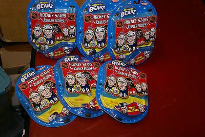 Mighty Beanz Beans 5-Pack 2004 NHL Hockey Stars LOT OF 6 NEW