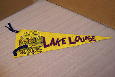 Felt Travel Banner 1940s 50s Canada Lake Louise