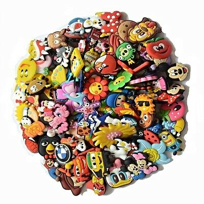 50 Random Shoe Charms fits Holey Shoes Crocs Jibbitz   Free Bracelet