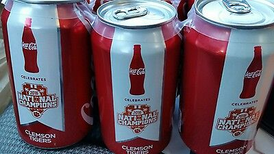 clemson national champions coke cans 6 pack