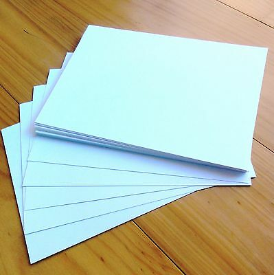 """PREMIUM BLANK 280 GSM A5 CARD x 30 SHEETS 'LINEN WHITE"""" - NEW"""