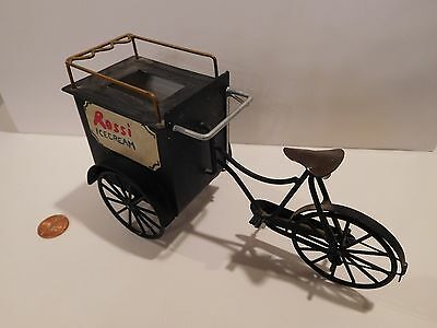Very Unique Metal Bicycle Ice Cream Cart Made By Cyr ( Colin & Yvonne Roberson )