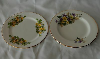 Duchess and Queen Anne Bone China England floral side plates