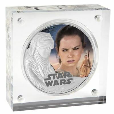 NEW Perth Mint Star Wars: The Force Awakens – Rey 2016 1oz Silver Proof Coin