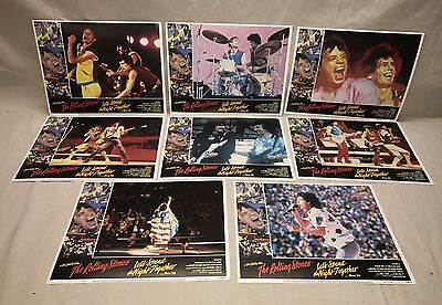 Original 1983 ROLLING STONES LET'S SPEND THE NIGHT TOGETHER Lobby Card Set Lot