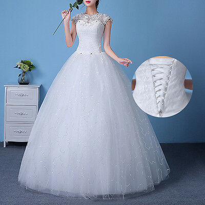 Homogeneous White/Ivory/Red Wedding Dress Bridal Gown Size:6/8/10/12/14/16/18