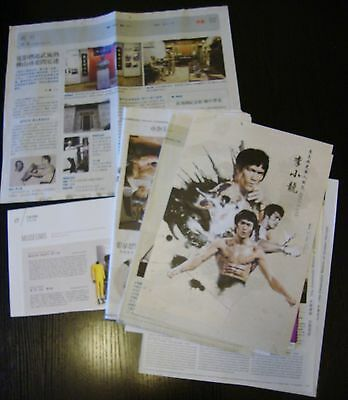 Bruce Lee Hong Kong Newspaper & magazine clippings lot 14+