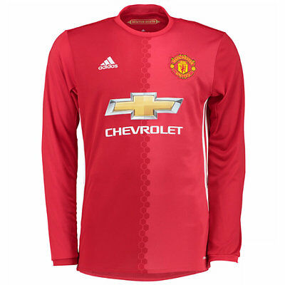 2016-2017 Official Manchester United Long Sleeve Mens Jerseys Shirts All Sizes