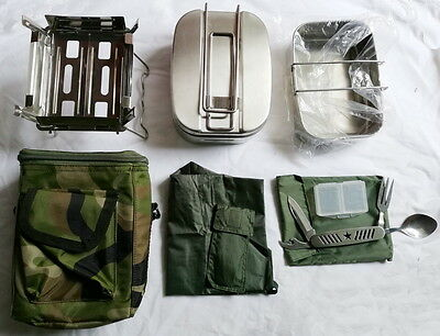 Military Surplus Chinese Army PLA Type 05 Stainless Steel Mess Kit