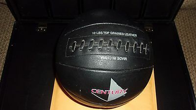 Century  Medicine Ball12 lb Weighted Top Grained Leather Black