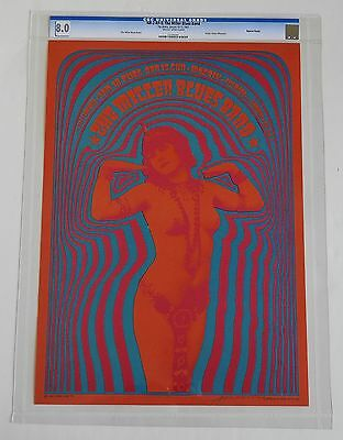 Neon Rose Poster NR-2-RP-5 : CGC Grade 8.0 Signed by Victor Moscoso