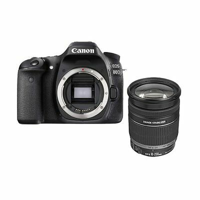 Canon EOS 80D EF-S 18-200mm f3.5-5.6 IS lens kit (Multi Language) Ship from UK