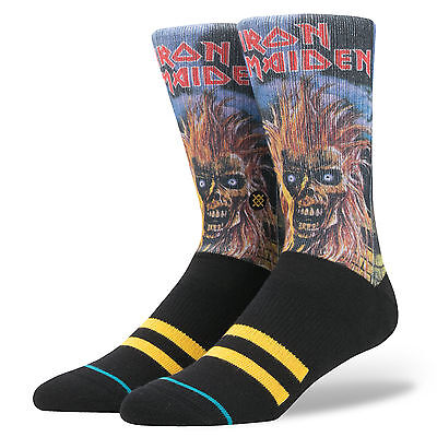 Stance Socks Iron Maiden Black SIZE L-XL Legends Of Metal Band Sox