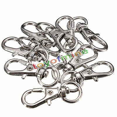 Swivel Trigger Clips Snap Hooks Lobster Clasp Keychain Bag Craft DIY Findings