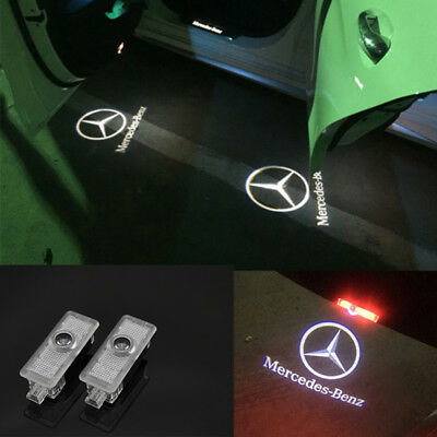2x LED Ghost Shadow Projector Laser Door Light For Mercedes-Benz CLS CLA C207