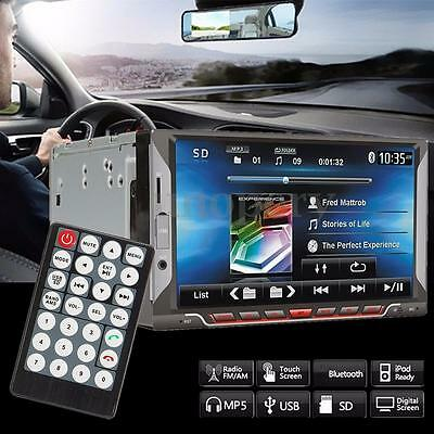 """7"""" 2 Din Touch Screen Bluetooth Car MP5 MP4 Player Digital TFT Stereo FM Radio"""