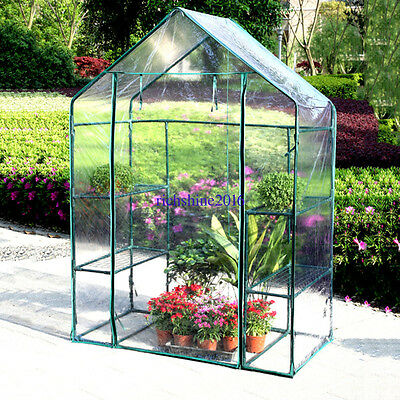 Transparent PVC Greenhouse Tomato House Early Plant House Garden 143x73x195cm