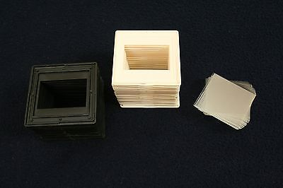 Slide transparency frame mount with glass 25 pieces 24x36mm for Kodak Carousel