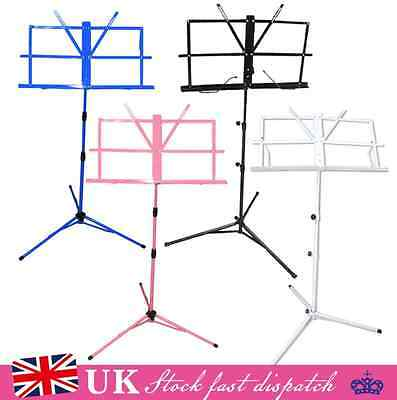 Sheet Music Metal Stand Adjustable Holder Folding Foldable with Carry Case Bag
