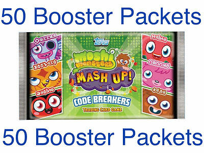 50x Topps Moshi Monters Code Breakers Trading Card Booster Packets *Brand New*