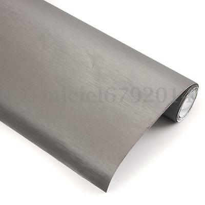 1520x600mm 1080 BRUSHED STEEL Vinyl Vehicle Decal Car Wrap Film Sticker Roll