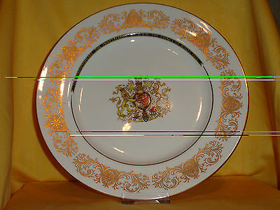 C05 Prince Charles Investiture as Prince of Wales Plate Gold decorated border