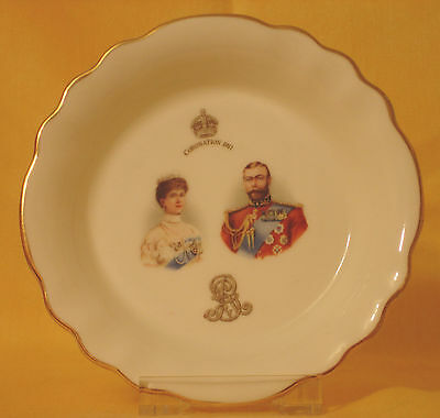 GV09 1911 George V  Fluted Pin Dish  - Red by Royal Doulton 1