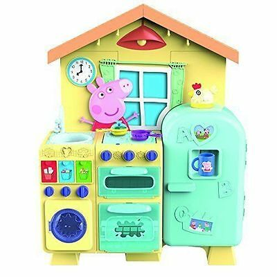 Peppa Pig House Kitchen Kids 21 Piece Playset  (J)