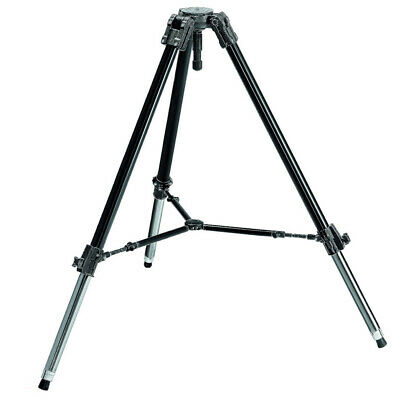 New In Box Manfrotto 528XB Heavy Duty Professional Video Tripod w/ 100mm Bowl