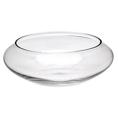 Open Top Clear Glass Bowl Wedding Table Floral Arrangement Floating Candle EF