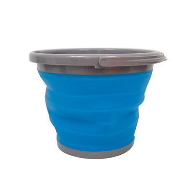 Foldable Bucket - 10 Litre - Blue and Grey - Yellowstone