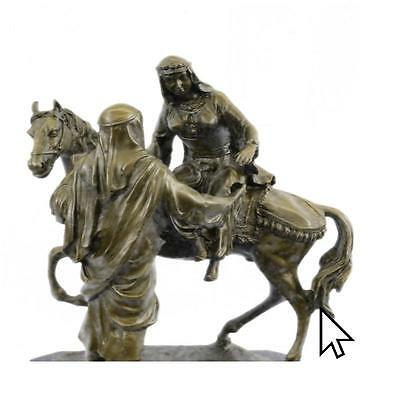 Handcrafted On Horse Mene- Commanding Bronze Sculpture 35 Pounds Figurine  A