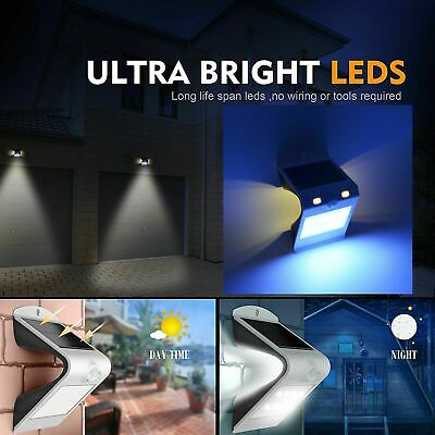 Stylish 12 LED Curve Solar Light Motion Sensor Garden Wall Pillar Outdoor Gutter