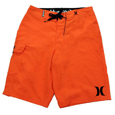Hurley Youth One And Only Boardshorts Neon Orange 24
