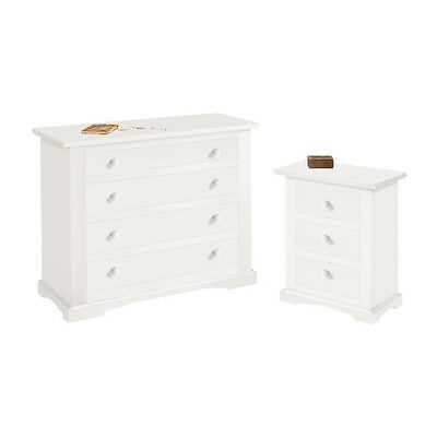Bedroom Set Composed By Chest Of Drawers And 2 Nightstand, Classic Style