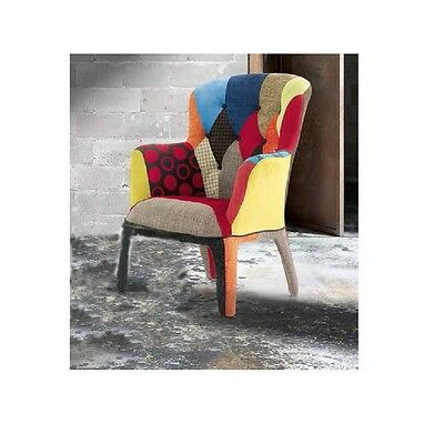 Fabric Armchair, Contemporary Style, Wood Frame, Padded