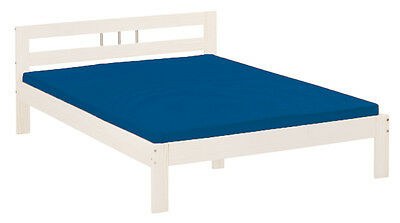 Fana 140X190  Bed Frame. Dim.145X195X72H. Solid Pine White Water Painted