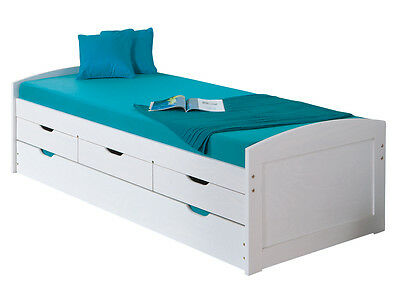 Ulli 90X190  Bed With Drawer Box And Second Bedroom Lower Extraction.98X195X63
