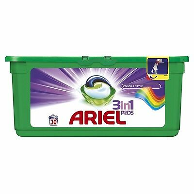 Ariel 3-in-1 Pods Colour Washing Capsules, 30 Washes Brand NEW