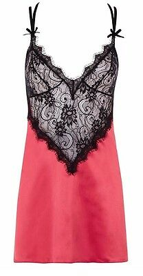 Ann Summers Cherry Chemise Set Size 18
