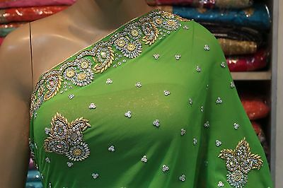 Bollywood Indian Traditional Designer Hand Crafted Saree Sari Bridal Party Dress
