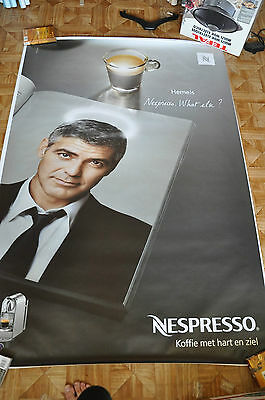 affiche grand format NL Nespresso Georges Clooney What Else 176 x 118 cm poster
