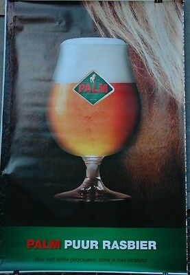 affiche grand format in nl bière beer PALM Puur Rasbier  176 x 118 cm poster