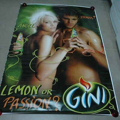 affiche grand format GINI Lemon or Passion Angel or Demon 176 x 118 cm poster