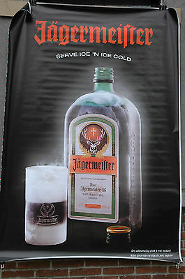 affiche grand format liqueur Jagermeister serve ice cold 176 x 118 cm poster