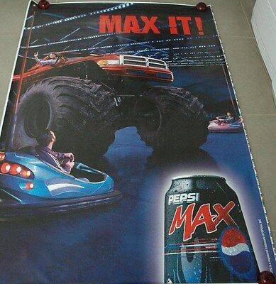 affiche grand format Pepsi MAX Max it monster truck 176 x 118 cm poster